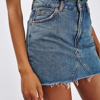 MOTO Denim Pelmet skirt