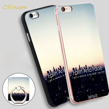 Minason Faith And Fade i Dot Mobile Phone Shell Soft TPU Silicone Case Cover for iPhone X 8 5 SE 5S 6 6S 7 Plus