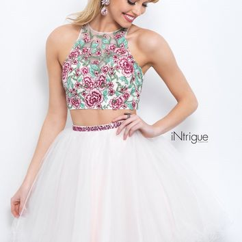 Intrigue by Blush 359 Embroidered Tulle 2pc Dress