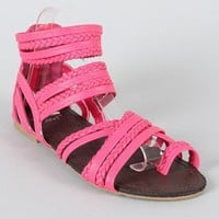 Miss Me Telly-1 Braided Gladiator Flat Sandal
