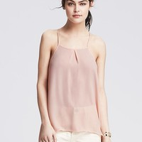 Banana Republic Womens Pleated High/Low Cami
