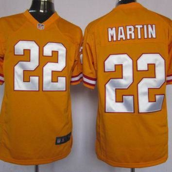 PEAPYD9 Nike Buccaneers #22 Doug Martin Orange Throwback Mens NFL Game Jersey