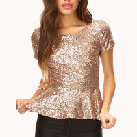 Glam Girl Peplum Top