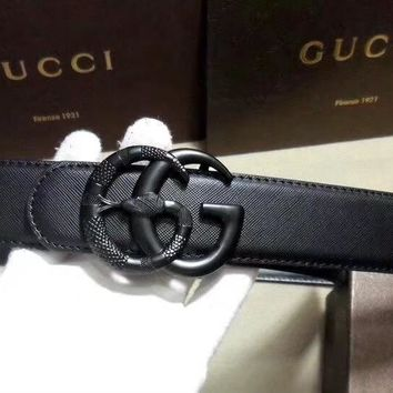Gucci Fashion Women Men Retro Leather Belt