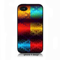 Stunning Bright Damask Design Iphone 4/4s case, Iphone case, Iphone 4s case, Iphone 4 cover, i phone case, i phone 4s case