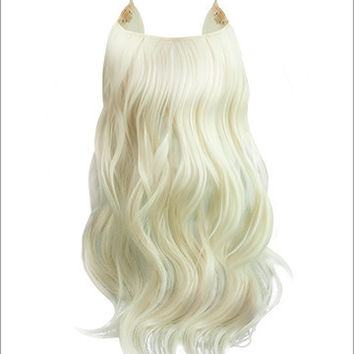 """Hidden Halo Flip-in Extensions by Lord & Cliff (Curly) - 18"""" Heat-Friendly Fiber (Color 60)"""