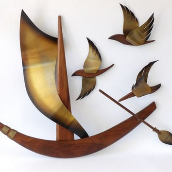Modern Wood Art Wall Hanging