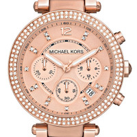 Michael Kors Watch, Women's Chronograph Tortoise Acetate and Rose Gold Tone Stainless Steel Bracelet 39mm MK5538