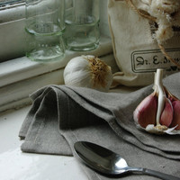 Pure Linen Kitchen Towel by KnockKnockLinen on Etsy
