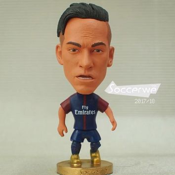 "Football star Soccer Player Star 10# NEYMAR (PSG-2018) 2.5"" Toy Doll Figure New style"
