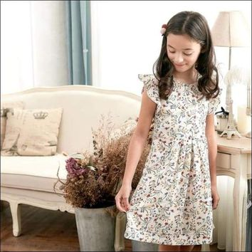 Ruffle Sleeve Floral Dress (toddler/girl)