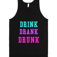 Drink Drank Drunk, its spring break!-Unisex Black Tank