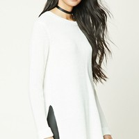 Vented-Hem Boxy Sweater