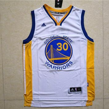 Golden State Warriors Stephen Curry #30 White Jersey
