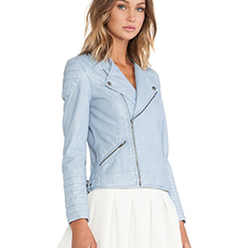 Sweet Rebel Moto Jacket in Ice Blue