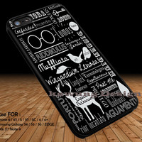 Harry Potter Spells Quote iPhone 6s 6 6s+ 5c 5s Cases Samsung Galaxy s5 s6 Edge+ NOTE 5 4 3 #quote DOP2333
