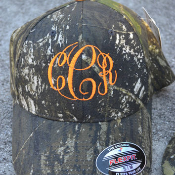 MONOGRAMMED Fitted Camo Baseball Hat Cap - Boy - Custom - Personalized