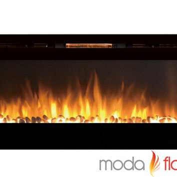 50 Inch Pebble Wall Mounted Electric Fireplace
