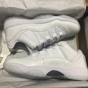 """Ready Stock"" aj11 Air Jordan 11 All White Burst Men Women Sneaker"