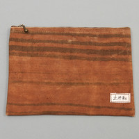 ogaki kaban - large zip pouch stripes