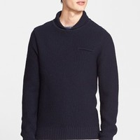 Men's A.P.C. Shawl Collar Wool Sweater,