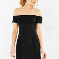 Silence + Noise Off-The-Shoulder Dress- Black