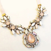 Waterdrop Pendant Statement Necklace
