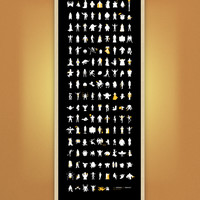 Supermarket: 149 Icons of Horror / Fantasy Screened Poster from Chop Shop