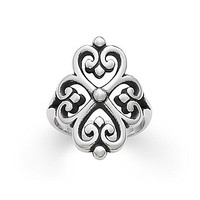 James Avery Adorned Hearts Ring - Sterling Silver 9