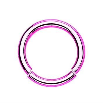 BodyJ4You Segment Ring 14 Gauge Pink Stainless Steel