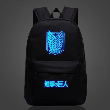 Cool Attack on Titan Anime  Luminous Backpack Teens Kids Boys Girls Survey Corps School Bag Women Men Travel Backpack Laptop Backpack AT_90_11