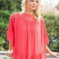 Venture Out Top in Coral | Monday Dress Boutique