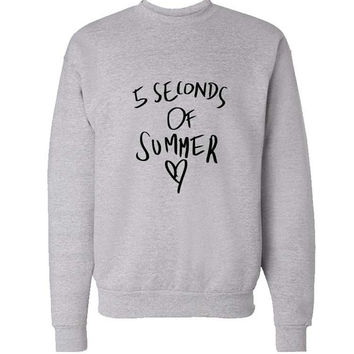 love 5 sos sweater Gray Sweatshirt Crewneck Men or Women for Unisex Size with variant colour
