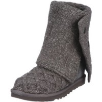 UGG Australia Women's Lattice Cardy Boots,Charcoal,US 7 US