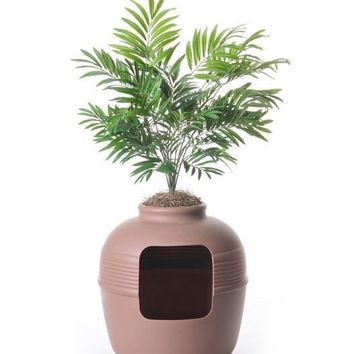 Palm Plant Litter Box Cover