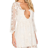 Begonia Babydoll Dress in Looking Glass Natural