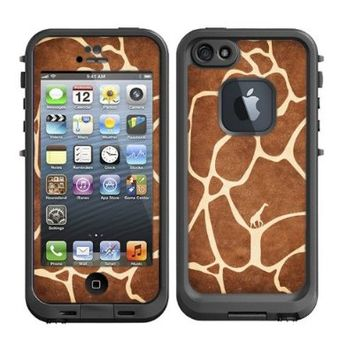 Skins Kit for Lifeproof iPhone 5 Case (skins/decals only) - Giraffe Animal Print Fur with Little Giraffe inside Cute