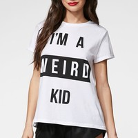 MinkPink The Weird One T-Shirt - Womens Tee - White