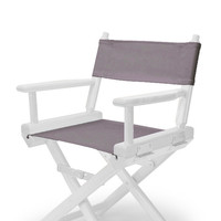 White Child'S Director Chair - Grey Cover