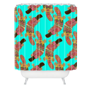 Sharon Turner Duck Billed Platypus Shower Curtain