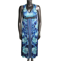 Style & Co. Womens Petites Jersey Beaded Maxi Dress