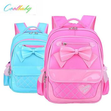 Coolbaby Girl Fashion Students Backpack 2017 New Super Light School Bag Mochila Wear-resisting Nylon Bags P185