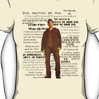 Dean Winchester quotes - red Women's T-Shirt