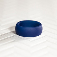 Silicone Wedding Band - Royal Blue Mens Silicone Wedding Band Ring Ring Gift for Men Gift For Him Gift For Husband Gift
