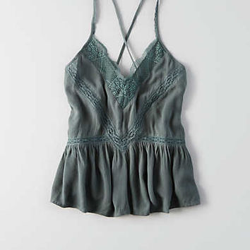 AEO Ruched Swing Tank , Teal
