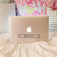 Fabulous Banner Laptop Decal