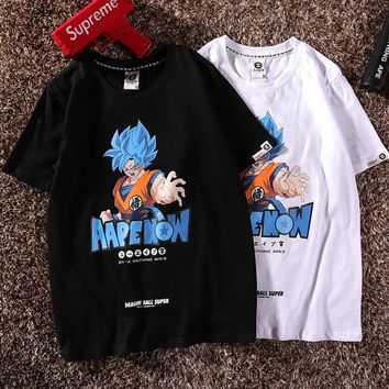 Print Short Sleeve Dragon Ball Tops [2162531336246]
