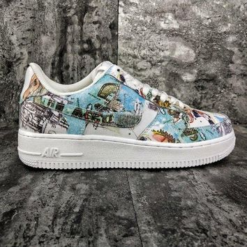 """[ Free  Shipping ]Nike Air Force 1 Low""""Wings""""  AV2405-100 Running  Shoes"""