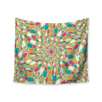 "Miranda Mol ""Flourishing Green"" Green Multicolor Wall Tapestry"