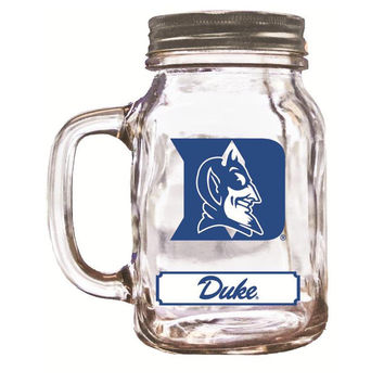 16Oz Mason Jar Duke Blue Devils
